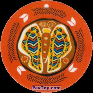 PaxToy.com - 01 Амулет Бабочка из Cheetos: Africana / Читос Африкана (Тазо-Амулет)