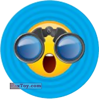 Emoji / Эмодзи - 04 Смайлик Удивлен увиденным в бинокль