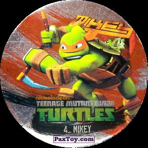 PaxToy.com  Фишка / POG / CAP / Tazo 04_MIKEY из Chipicao: Teenage Mutant Ninja Turtles