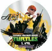 PaxToy.com  Фишка / POG / CAP / Tazo 05_APRIL из Chipicao: Teenage Mutant Ninja Turtles