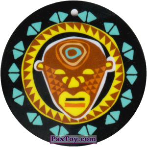 PaxToy.com - 07 Амулет Маска из Cheetos: Africana / Читос Африкана (Тазо-Амулет)