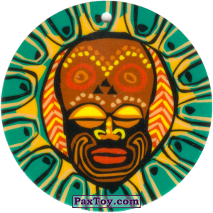 PaxToy.com - 08 Амулет Маска из Cheetos: Africana / Читос Африкана (Тазо-Амулет)