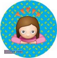 PaxToy.com  Наклейка / Стикер, Фишка / POG / CAP / Tazo Emoji / Эмодзи - 09 Прилежная девочка из Cheetos: Найди 90 Эмодзи! (Emoji)