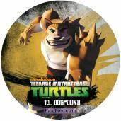 PaxToy.com  Фишка / POG / CAP / Tazo 10_DOGPOUND из Chipicao: Teenage Mutant Ninja Turtles