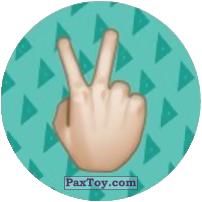 Emoji / Эмодзи - 12 Или 2 на пальцай или Символ мира Peace