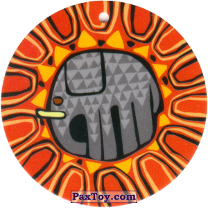 PaxToy.com - 14 Амулет Слон из Cheetos: Africana / Читос Африкана (Тазо-Амулет)