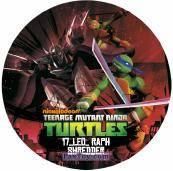 PaxToy.com  Фишка / POG / CAP / Tazo 17_LEO_RAPH_SHREDDER из Chipicao: Teenage Mutant Ninja Turtles