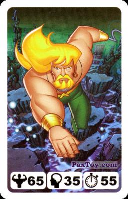 PaxToy.com - 18 Aquaman - Nestle Justice League из Nesquik: Карточки Лига Справедливости от Несквик