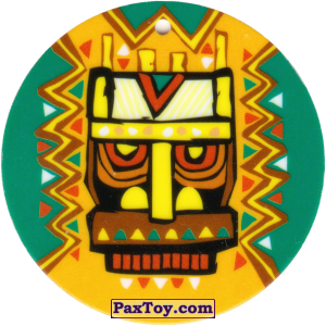 PaxToy.com - 19 Амулет Маска из Cheetos: Africana / Читос Африкана (Тазо-Амулет)
