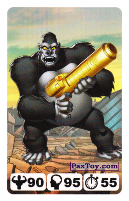 PaxToy.com - 19 Gorilla Grodd - Nestle Justice League из Nesquik: Карточки Лига Справедливости от Несквик