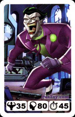 PaxToy.com  Карточка / Card 20 Joker - Nestle Justice League из Nesquik: Карточки Лига Справедливости от Несквик