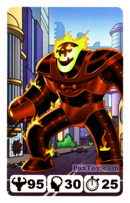 PaxToy.com  Карточка / Card 22 Brimstone - Nestle Justice League из Nesquik: Карточки Лига Справедливости от Несквик