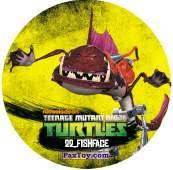 PaxToy.com  Фишка / POG / CAP / Tazo 22_FISHFACE из Chipicao: Teenage Mutant Ninja Turtles