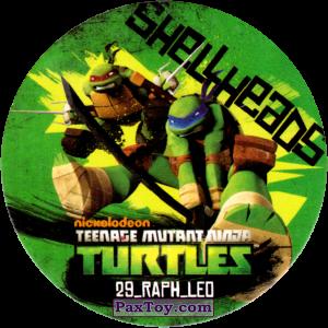 PaxToy.com  Фишка / POG / CAP / Tazo 29_RAPH_LEO из Chipicao: Teenage Mutant Ninja Turtles