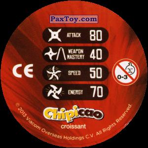 PaxToy.com - Фишка / POG / CAP / Tazo 34_RAPH (Сторна-back) из Chipicao: Teenage Mutant Ninja Turtles