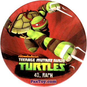 PaxToy.com  Фишка / POG / CAP / Tazo 40_RAPH из Chipicao: Teenage Mutant Ninja Turtles