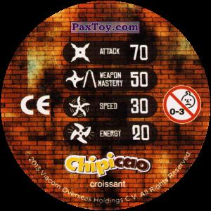 PaxToy.com - Фишка / POG / CAP / Tazo 45_FOOT CLAN (Сторна-back) из Chipicao: Teenage Mutant Ninja Turtles