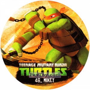 PaxToy.com  Фишка / POG / CAP / Tazo 46_MIKEY из Chipicao: Teenage Mutant Ninja Turtles
