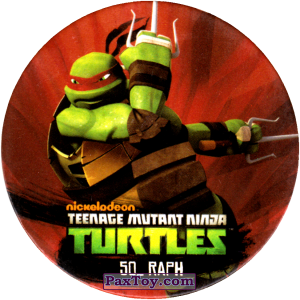 PaxToy.com  Фишка / POG / CAP / Tazo 50_RAPH из Chipicao: Teenage Mutant Ninja Turtles