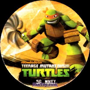 PaxToy.com  Фишка / POG / CAP / Tazo 56_MIKEY из Chipicao: Teenage Mutant Ninja Turtles