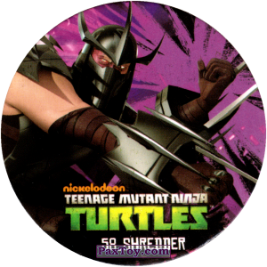 PaxToy.com  Фишка / POG / CAP / Tazo 58_SHREDDER из Chipicao: Teenage Mutant Ninja Turtles