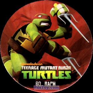 PaxToy.com  Фишка / POG / CAP / Tazo 60_RAPH из Chipicao: Teenage Mutant Ninja Turtles