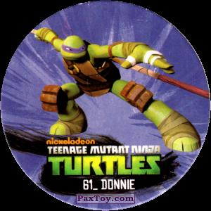 PaxToy.com  Фишка / POG / CAP / Tazo 61_DONNIE из Chipicao: Teenage Mutant Ninja Turtles