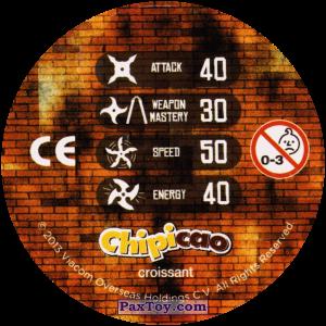PaxToy.com - Фишка / POG / CAP / Tazo 65_SHREDDER (Сторна-back) из Chipicao: Teenage Mutant Ninja Turtles