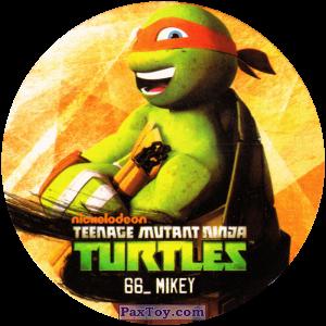 PaxToy.com  Фишка / POG / CAP / Tazo 66_MIKEY из Chipicao: Teenage Mutant Ninja Turtles