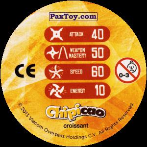 PaxToy.com - Фишка / POG / CAP / Tazo 66_MIKEY (Сторна-back) из Chipicao: Teenage Mutant Ninja Turtles