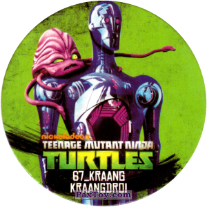 PaxToy.com  Фишка / POG / CAP / Tazo 67_KRANG_KRAANGDROI из Chipicao: Teenage Mutant Ninja Turtles