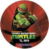 PaxToy.com  Фишка / POG / CAP / Tazo 70_RAPH из Chipicao: Teenage Mutant Ninja Turtles
