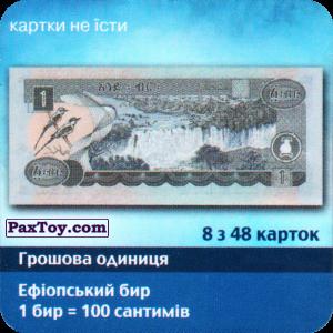 PaxToy.com - 8 з 48 Ефіопія - Ефіопський бир (Сторна-back) из Три корочки: Справжні гроші у пачках