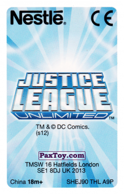 PaxToy.com - 18 Aquaman - Nestle Justice League (Сторна-back) из