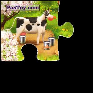 PaxToy.com  Магнит, Пазл / Puzzle 01 Коровка помогает готовить сыр из Звени Гора (Звенигора): Пазл «Збери веселу ферму»