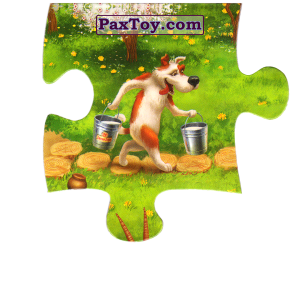 PaxToy.com  Магнит, Пазл / Puzzle 02 Собачка несет молоко из Звени Гора (Звенигора): Пазл «Збери веселу ферму»