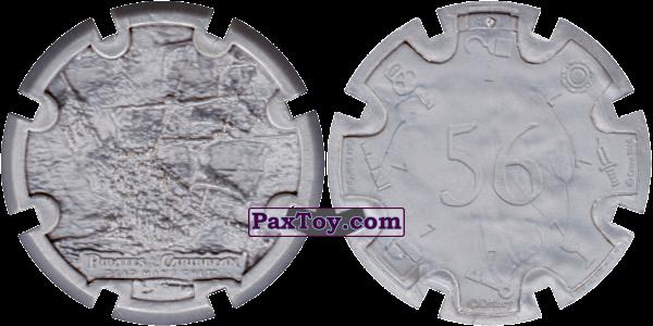 PaxToy.com - 04 The Black Pearl - Пиратский дублон (Сторна-back) из Estrella: Пираты Карибского моря: Сундук мертвеца