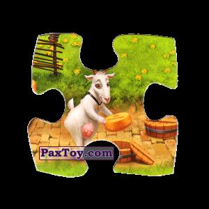 PaxToy.com  Магнит, Пазл / Puzzle 05 Козочка несет сыр из Звени Гора (Звенигора): Пазл «Збери веселу ферму»