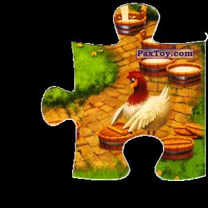 PaxToy.com  Магнит, Пазл / Puzzle 06 Курочка закрывает сыр из Звени Гора (Звенигора): Пазл «Збери веселу ферму»