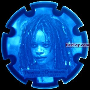 PaxToy.com  Игровая еденица, Фишка / POG / CAP / Tazo 06 Tia Dalma (Calipso) - Пиратский дублон из Estrella: Пираты Карибского моря: Сундук мертвеца