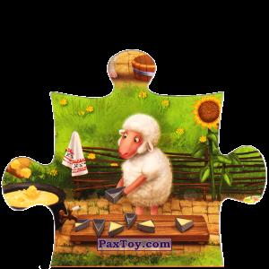 PaxToy.com  Магнит, Пазл / Puzzle 08 Овечка наполняет формочки из Звени Гора (Звенигора): Пазл «Збери веселу ферму»