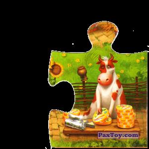 PaxToy.com  Магнит, Пазл / Puzzle 09 Бычек запаковывает сырочки из Звени Гора (Звенигора): Пазл «Збери веселу ферму»