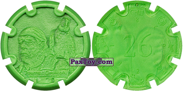 PaxToy.com - 09 Cotton - Пиратский дублон (Сторна-back) из Estrella: Пираты Карибского моря: Сундук мертвеца