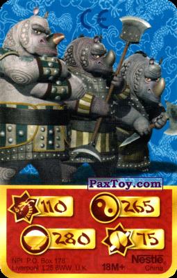 PaxToy.com - 110 Скорость Дракона - Rhinoceroses из Kosmostars: Карты «Кто Сильнее?»