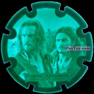 PaxToy.com - 12 James Norrington & William Turner Jr. - Пиратский дублон из Estrella: Пираты Карибского моря: Сундук мертвеца