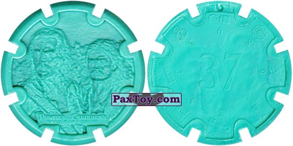 PaxToy.com - 12 James Norrington & William Turner Jr. - Пиратский дублон (Сторна-back) из Estrella: Пираты Карибского моря: Сундук мертвеца