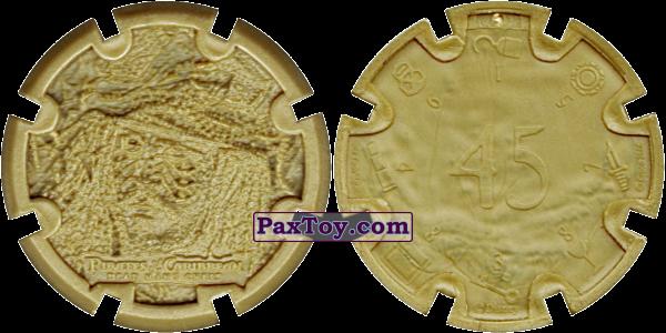 PaxToy.com - 14 Jack Sparrow - Пиратский дублон (Сторна-back) из Estrella: Пираты Карибского моря: Сундук мертвеца