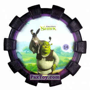 PaxToy.com - 14 Шрек и Осел (Резиновый бампер) из Cheetos: Shrek (Blaster)