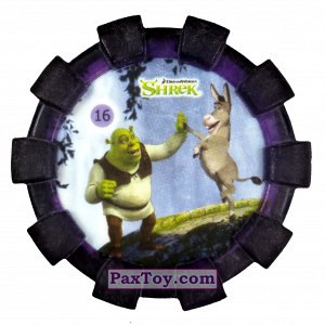 PaxToy.com - 16 Шрек и Осел (Резиновый бампер) из Cheetos: Shrek (Blaster)