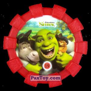 PaxToy.com - 19 Шрек, Осел и Кот в сапогах (Резиновый бампер) из Cheetos: Shrek (Blaster)